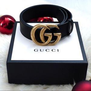 {Ńew Gucci Belt Aùthèntíć Double G Marmot GG